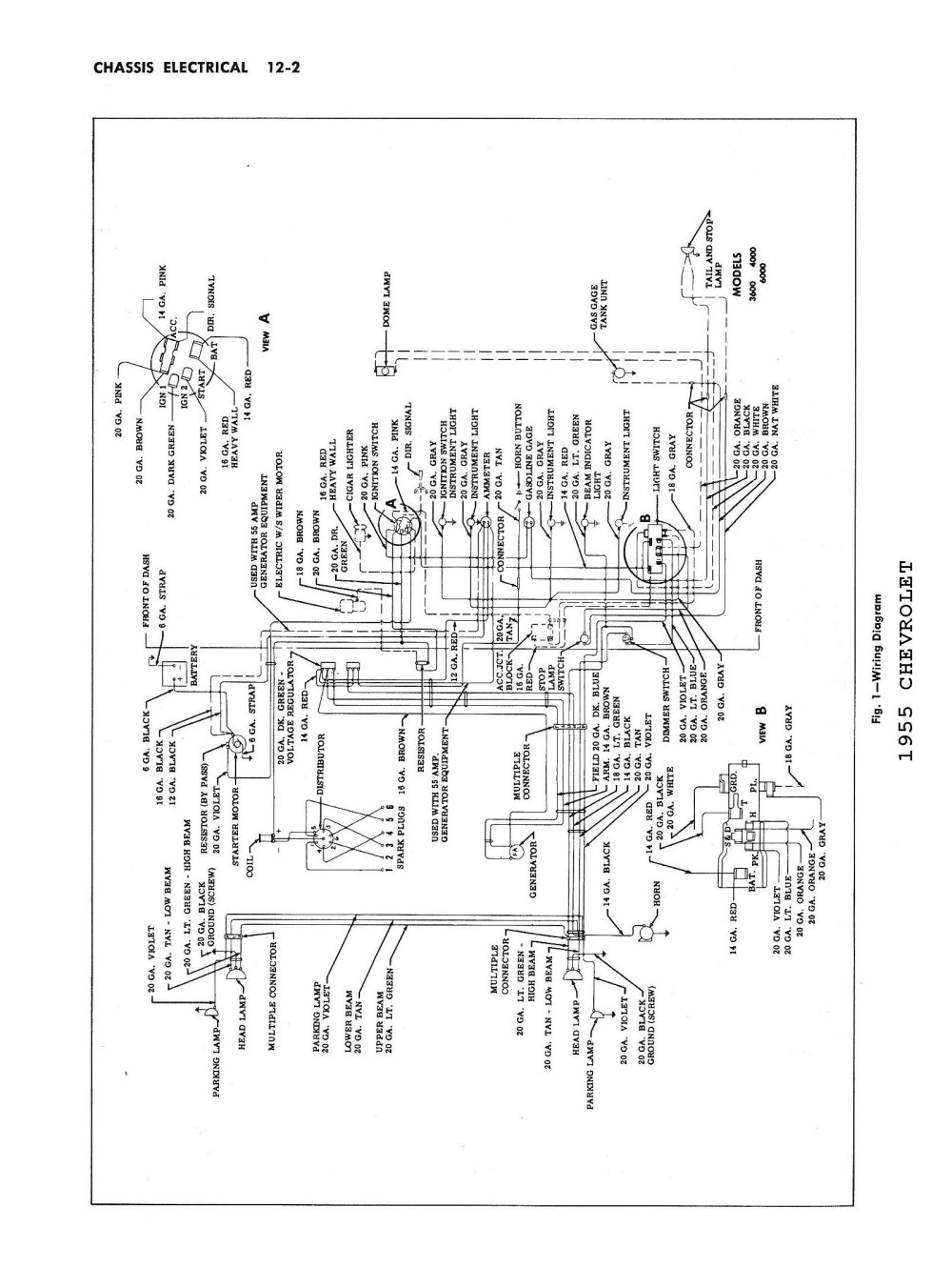 medium resolution of 1955 1955 car wiring diagrams 1955 passenger car wiring 1955 truck wiring
