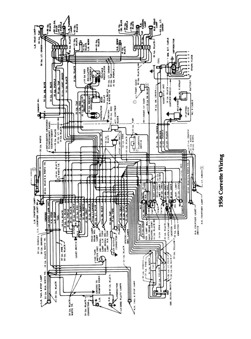 medium resolution of 1954 corvette wiring diagram