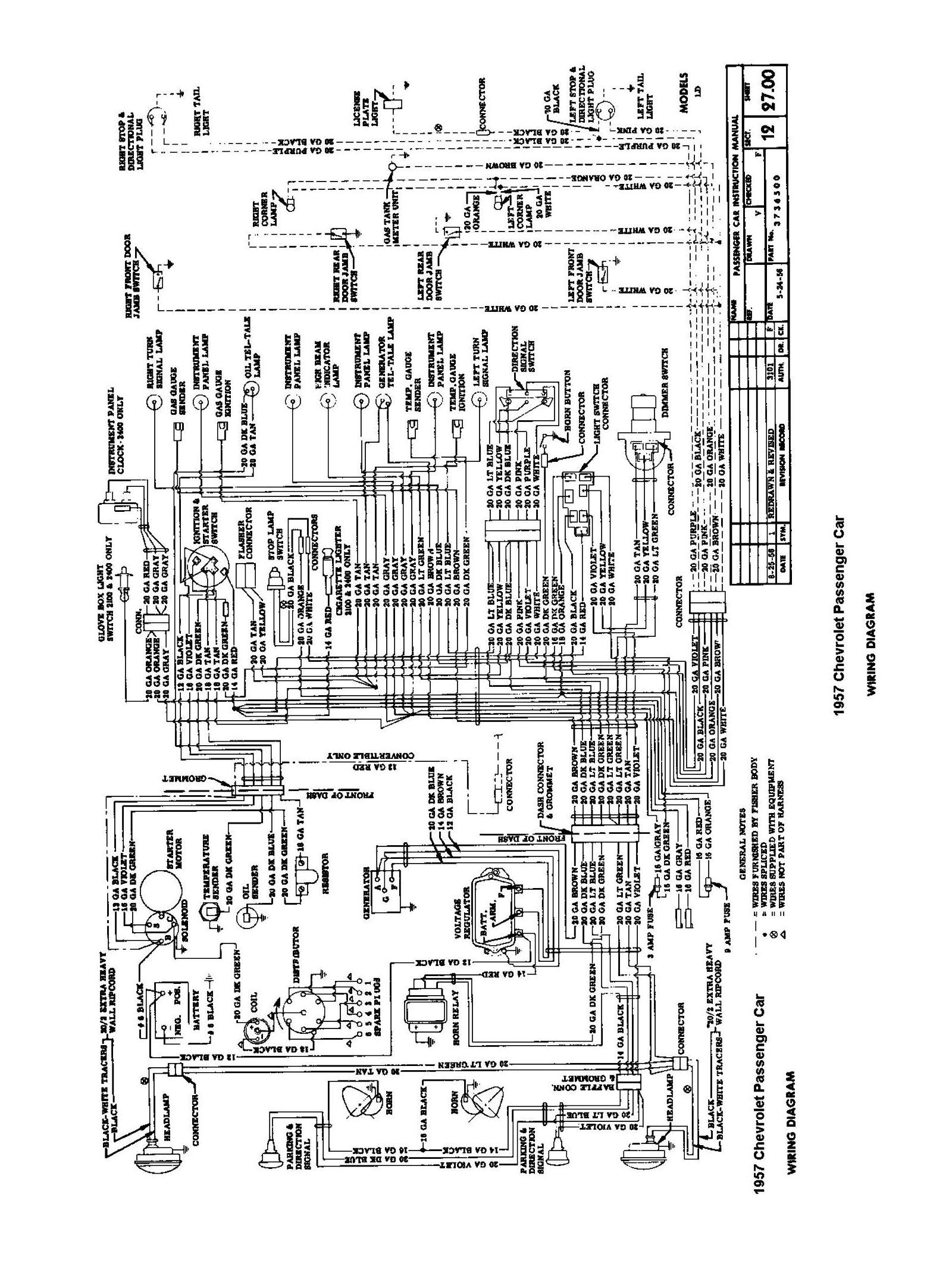 cars wiring diagrams msd 6m 2 diagram chevy 1957 car passenger