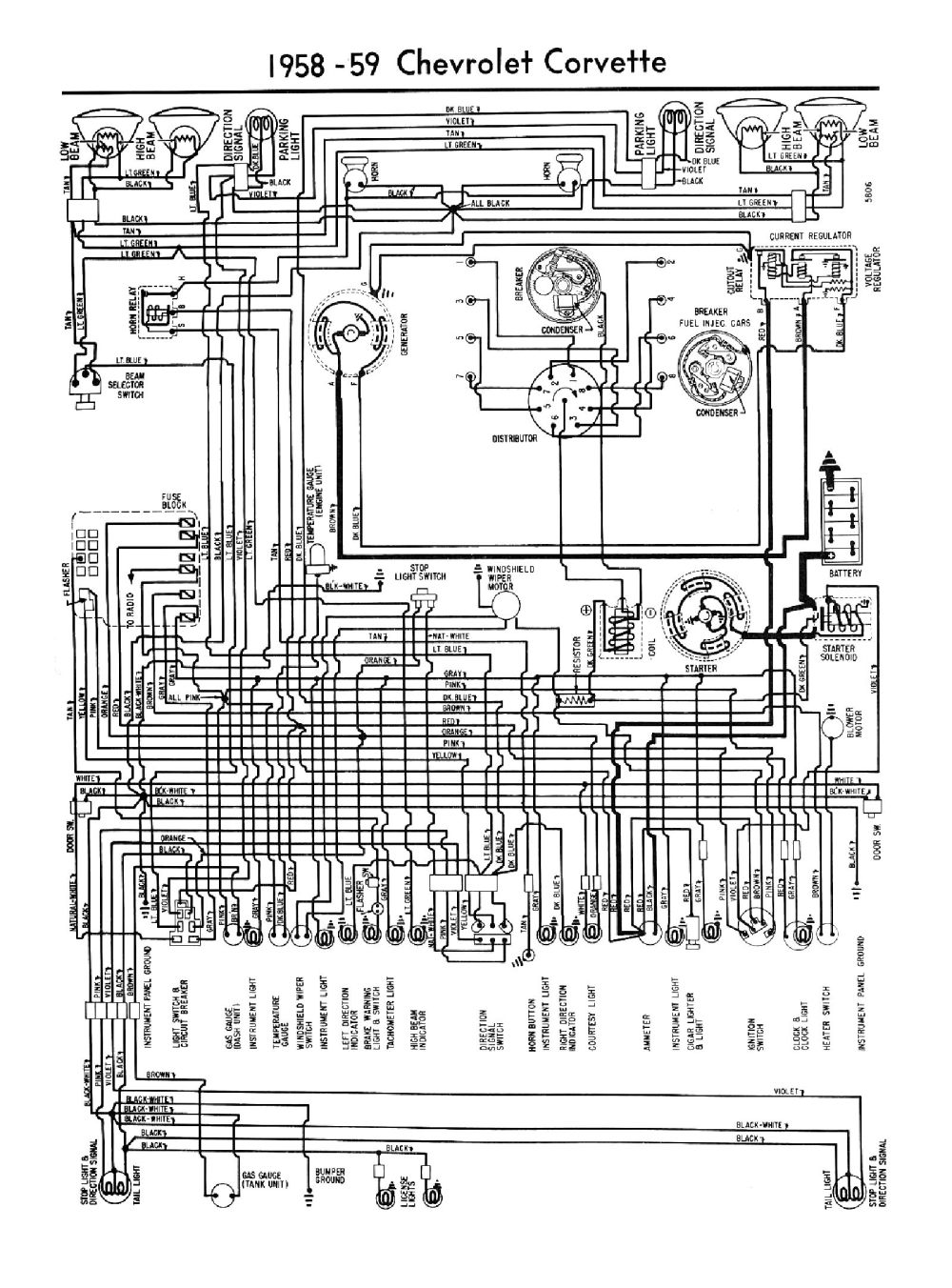 medium resolution of 1959 1959 car wiring diagrams 1959 car 6 cylinder wiring 1959 corvette