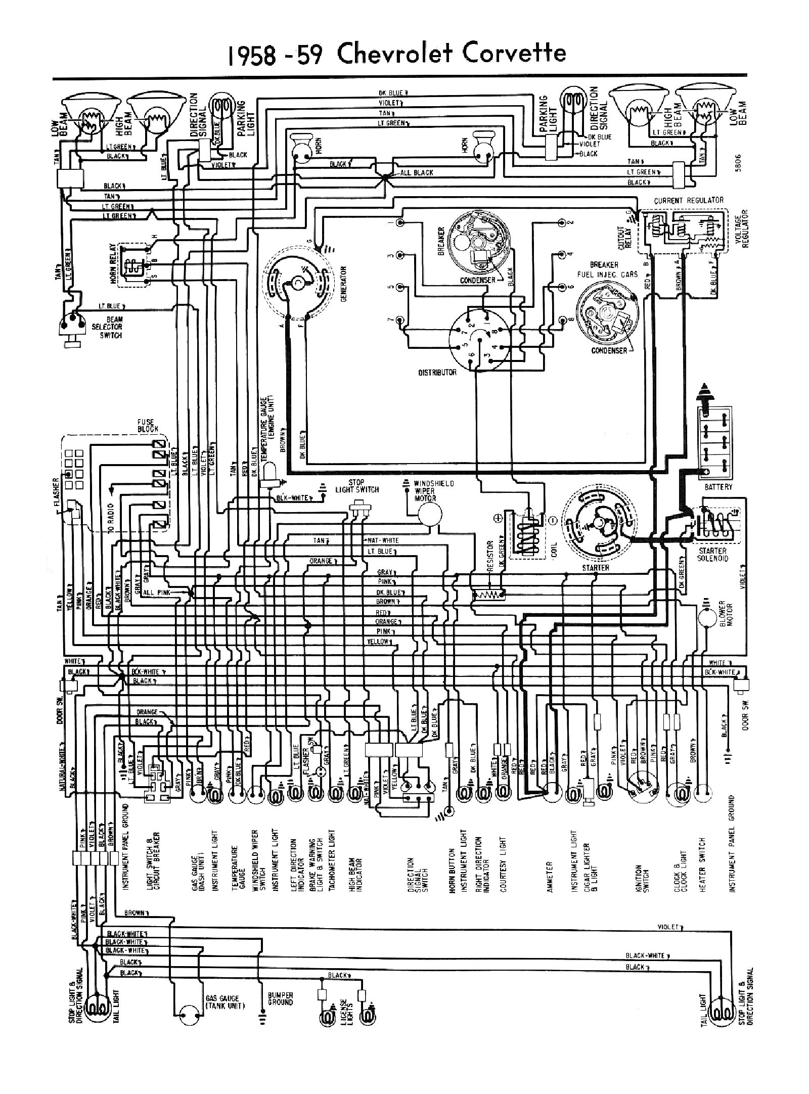 hight resolution of 1958 corvette wiring diagram