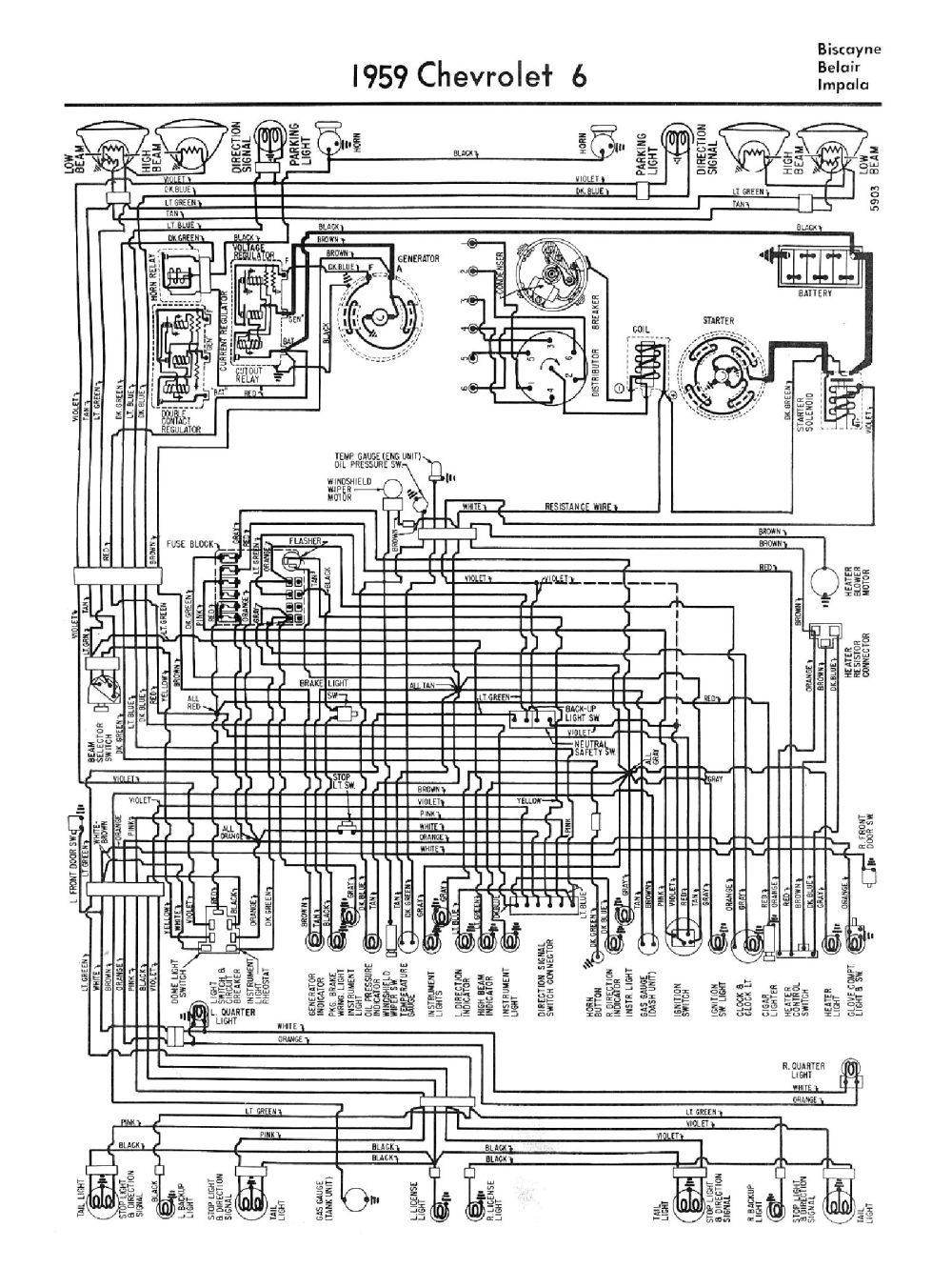 medium resolution of 1959 1959 car wiring diagrams 1959 car 6 cylinder wiring