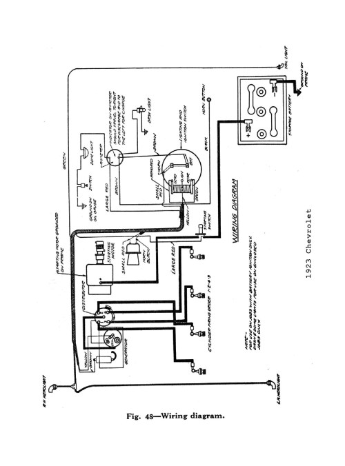small resolution of  1923 general wiring