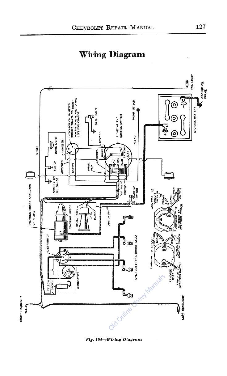 1929 ford truck wiring diagram