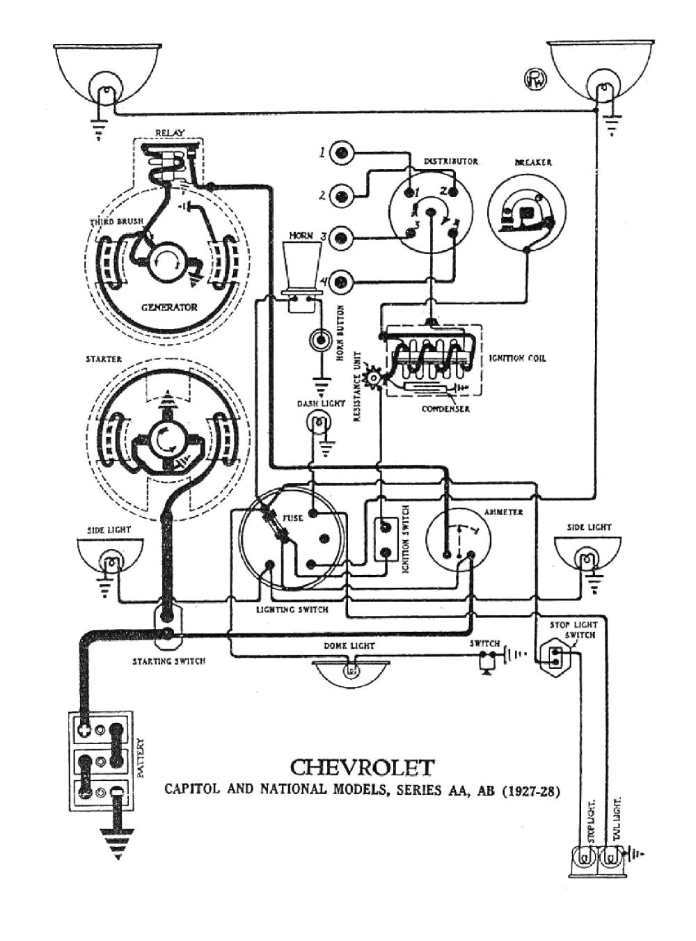 medium resolution of chevy wiring diagrams 1987 chevy wiring diagram 1927 capitol national models 1928 1928 wiring