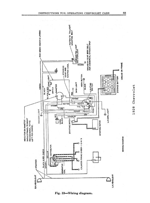 small resolution of 1928 1928 wiring diagrams 1928 general wiring