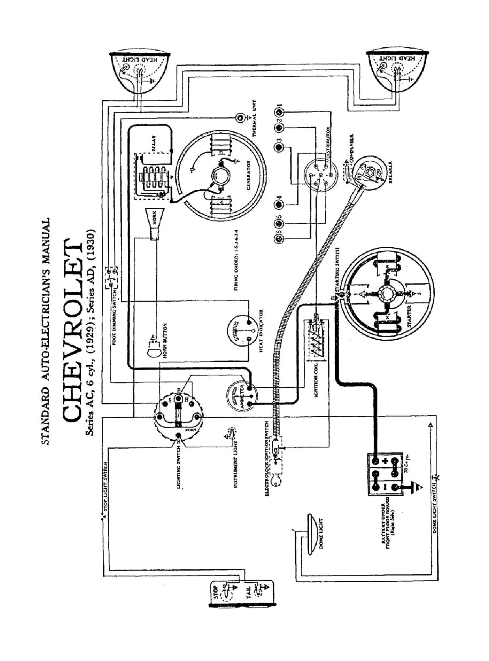 1930 Ford Stop Light Wiring Diagram, 1930, Free Engine