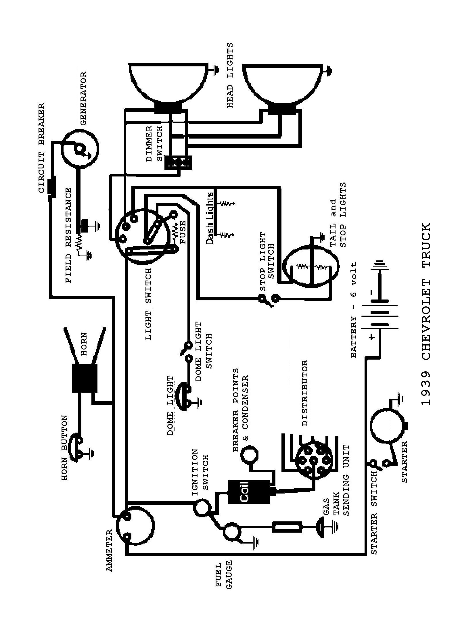 Electrical Wiring Diagram 1939 Chevy, Electrical, Free