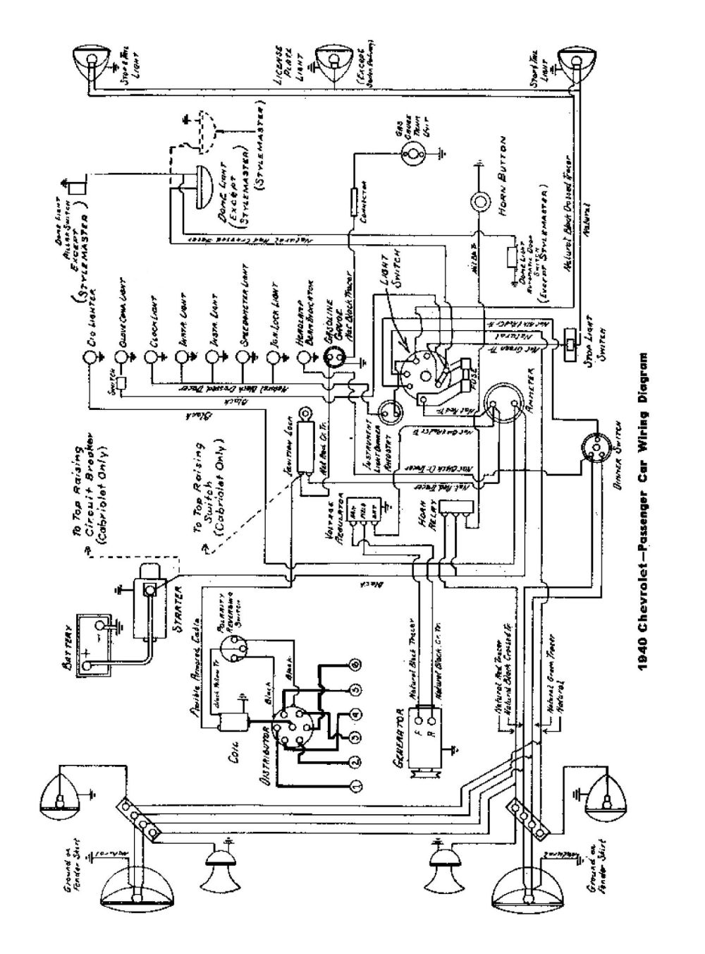 medium resolution of  1940 passenger car wiring