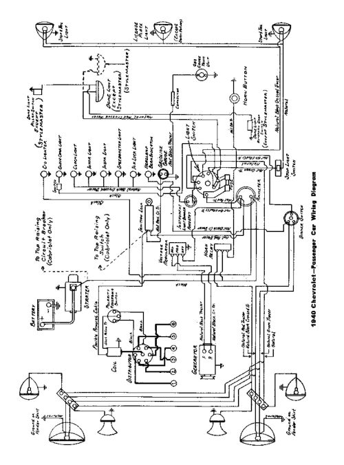 small resolution of  1940 passenger car wiring