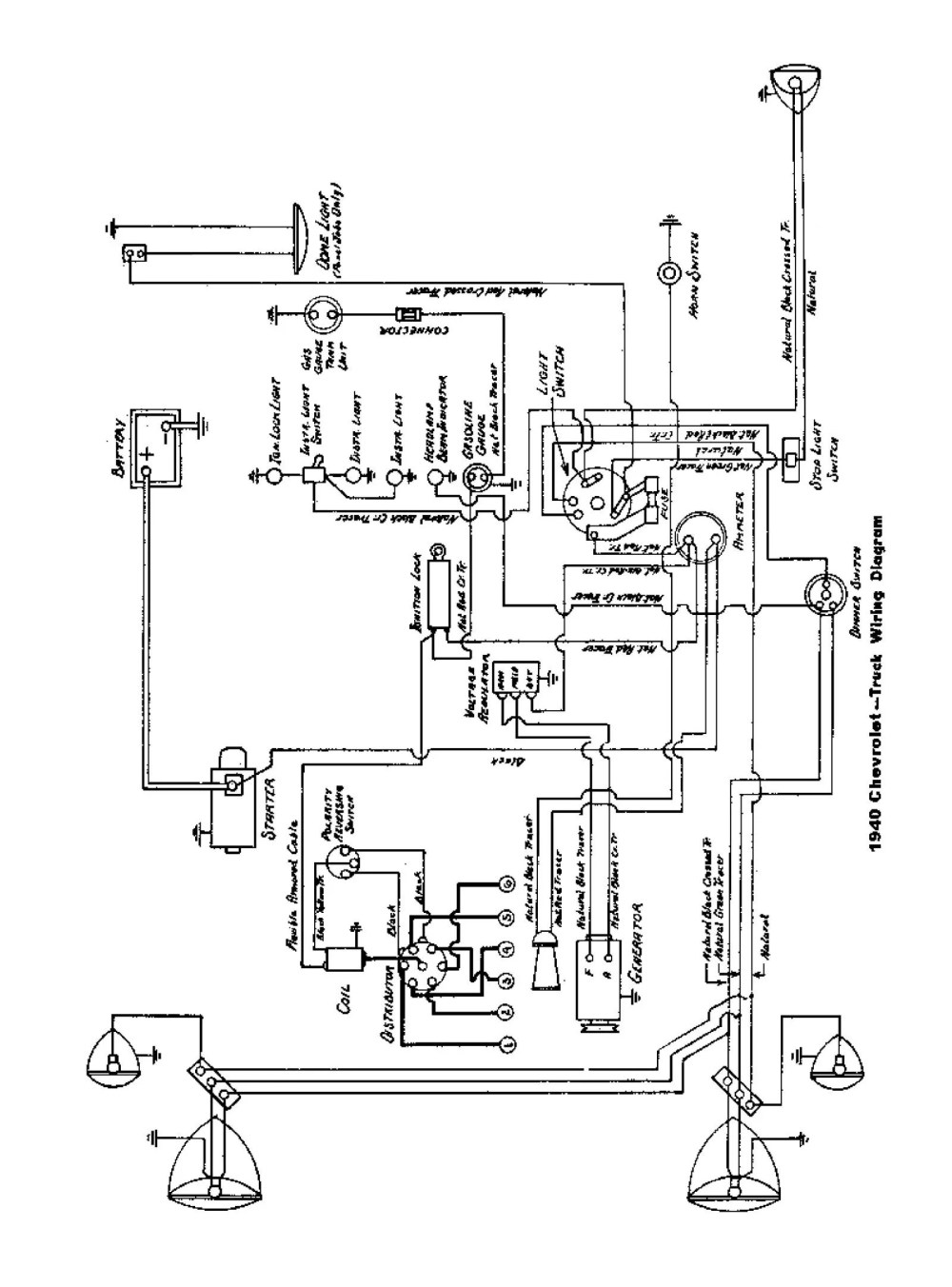 medium resolution of  1940 truck wiring