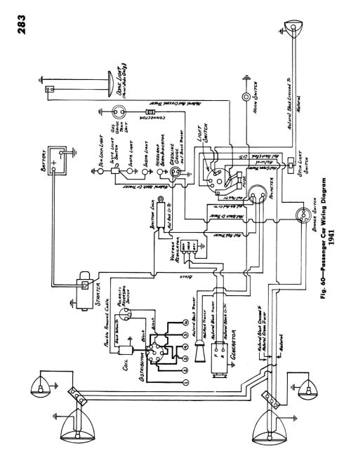 small resolution of  1941 passenger car wiring