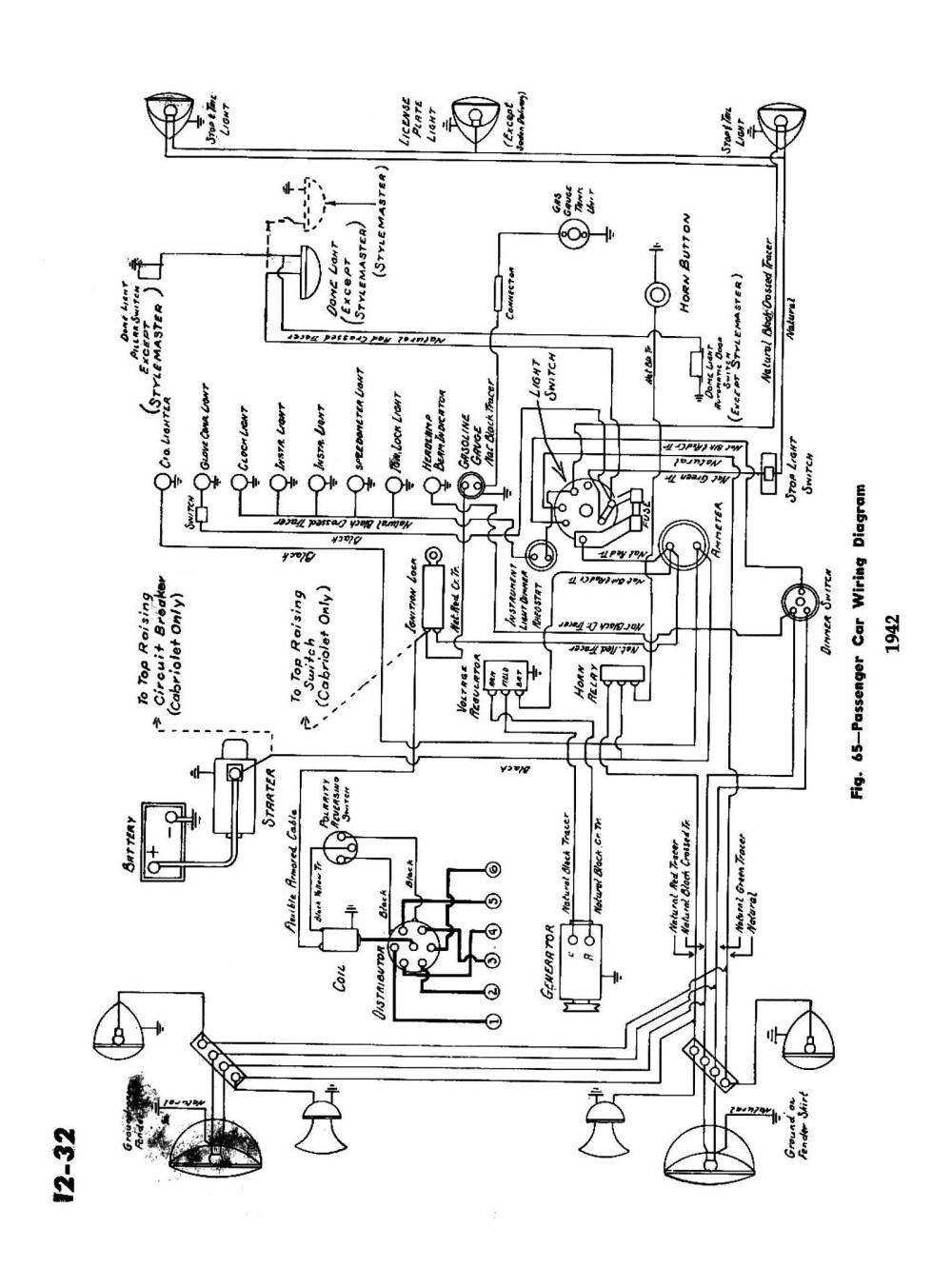 medium resolution of  1942 passenger car wiring