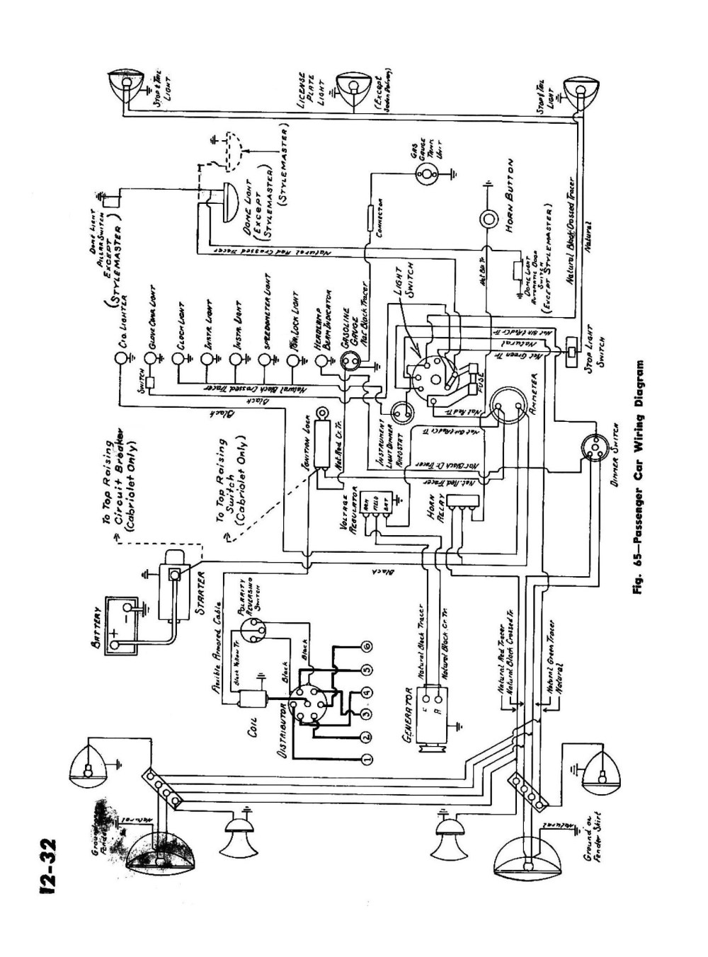 medium resolution of  1945 passenger car wiring