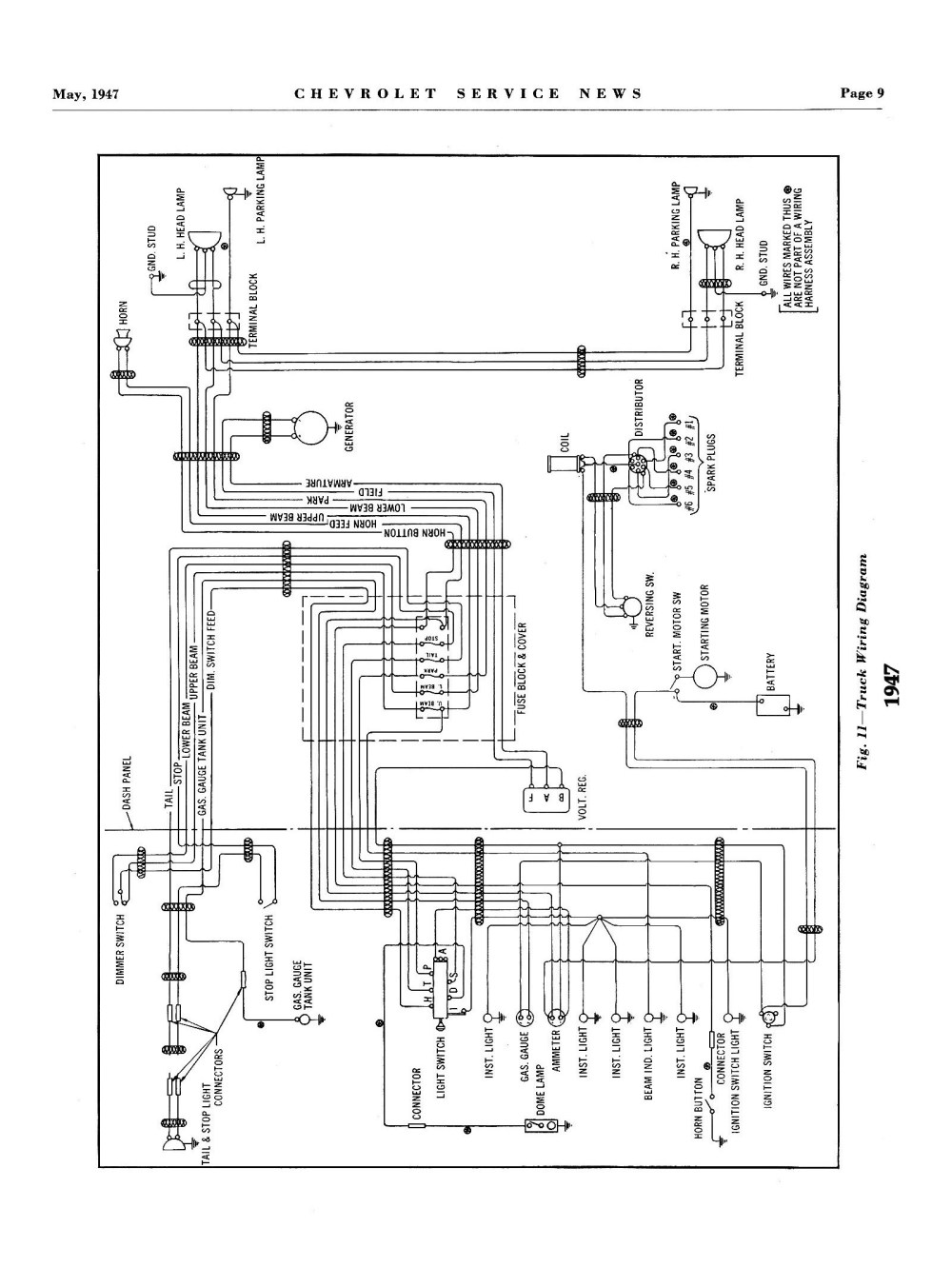 medium resolution of  1947 truck wiring 3