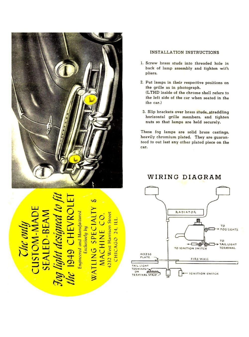 medium resolution of  1949 fog lamp wiring