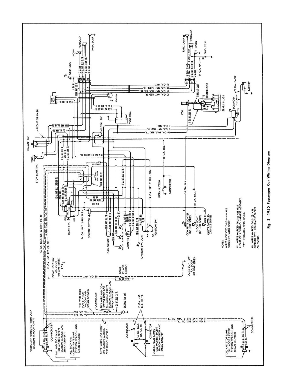 medium resolution of  1950 car general wiring