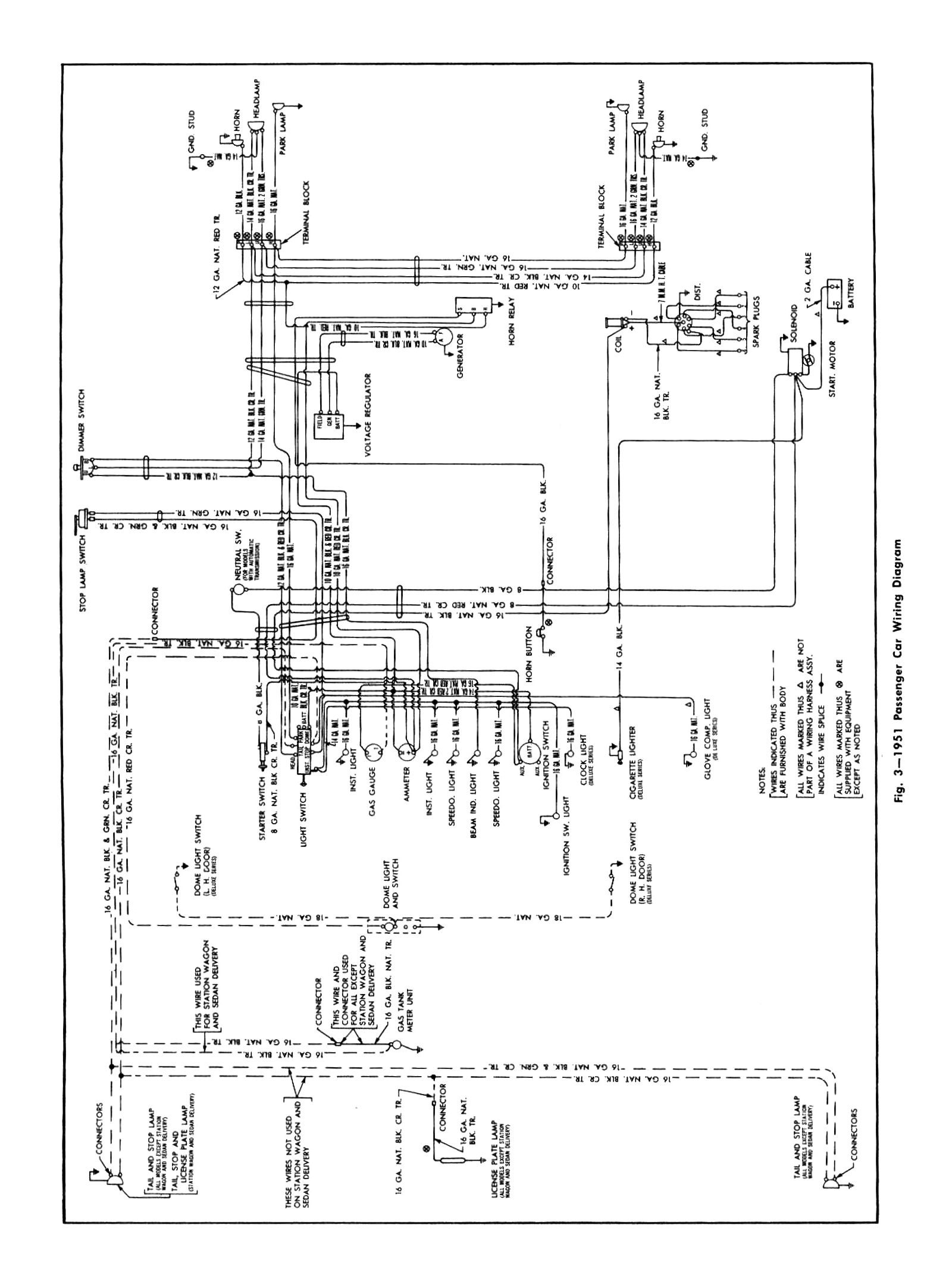 hight resolution of 1951 passenger car wiring chevy wiring diagrams