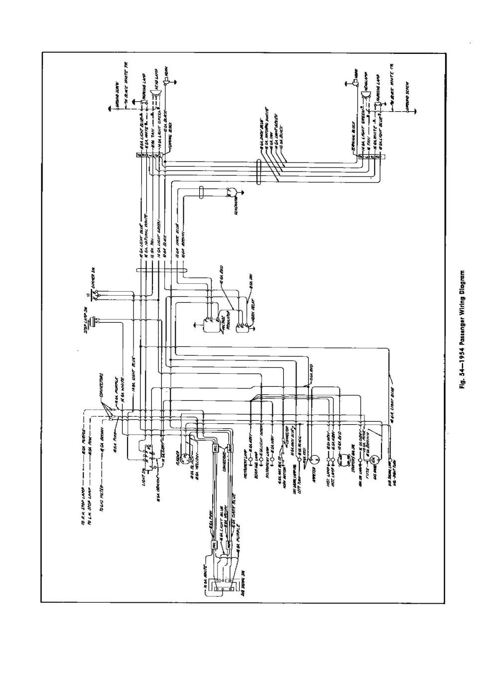 medium resolution of 1954 passenger car wiring
