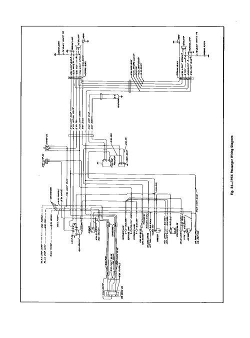 small resolution of 1954 passenger car wiring