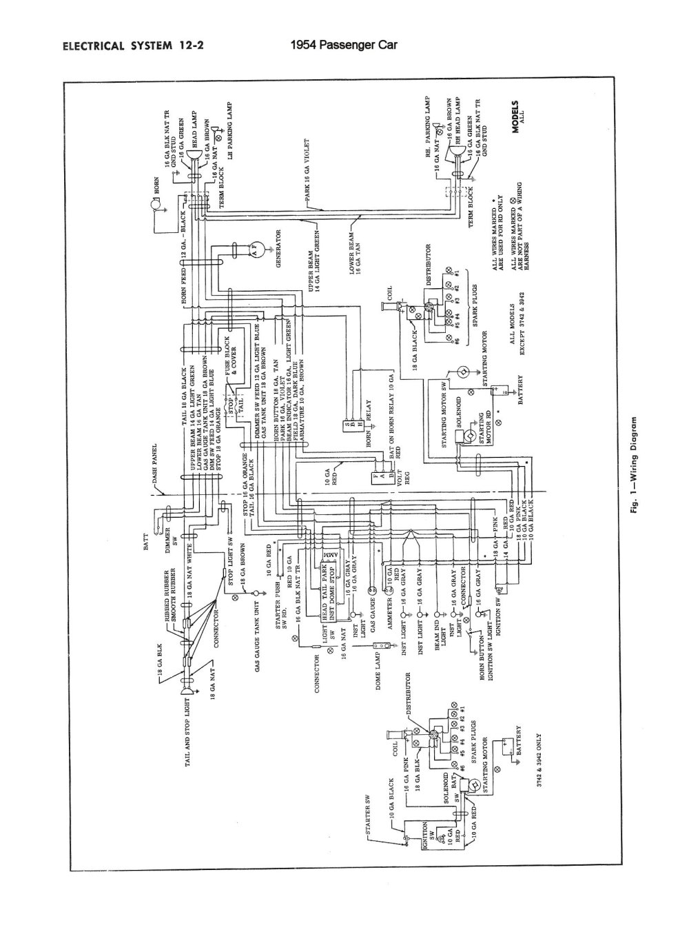 medium resolution of chevy wiring diagrams1954 truck wiring 1954 passenger car wiring 3