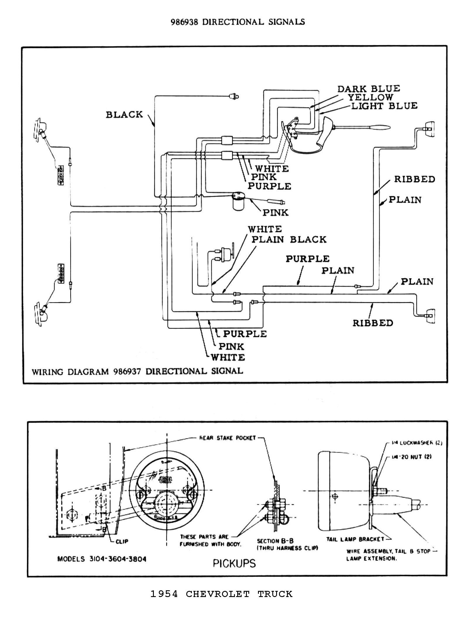 Signal Flasher Wiring Diagram 1954 Led Flasher Wiring Diagram Signal  Flasher Wiring Diagram 1954. Source. 54 chevy turn signal ...