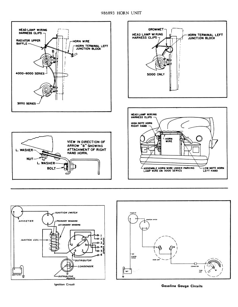 1954 Chevy 3100 Truck Wiring Harness Diagram, 1954, Free