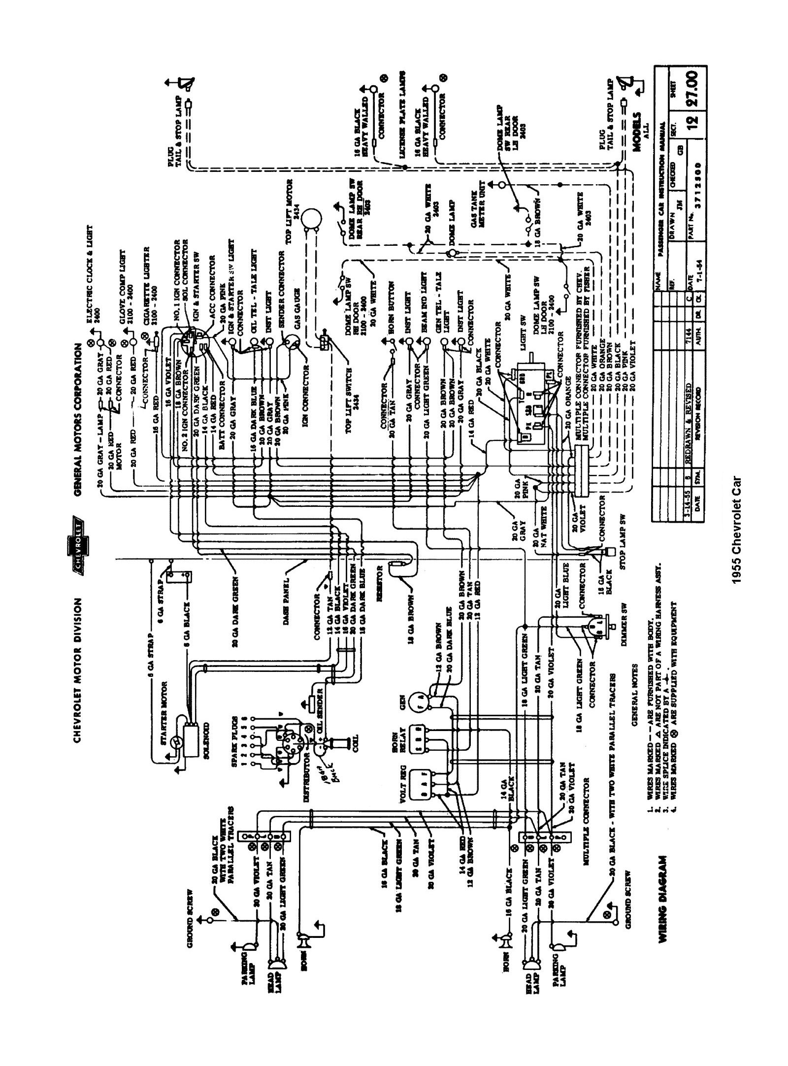 Wiring Diagram For 1955 Chevy Bel Air