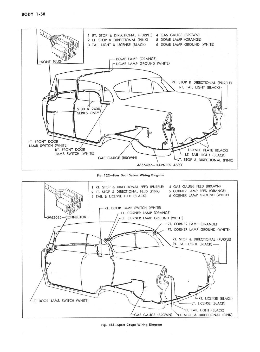medium resolution of  1955 passenger car body wiring 2