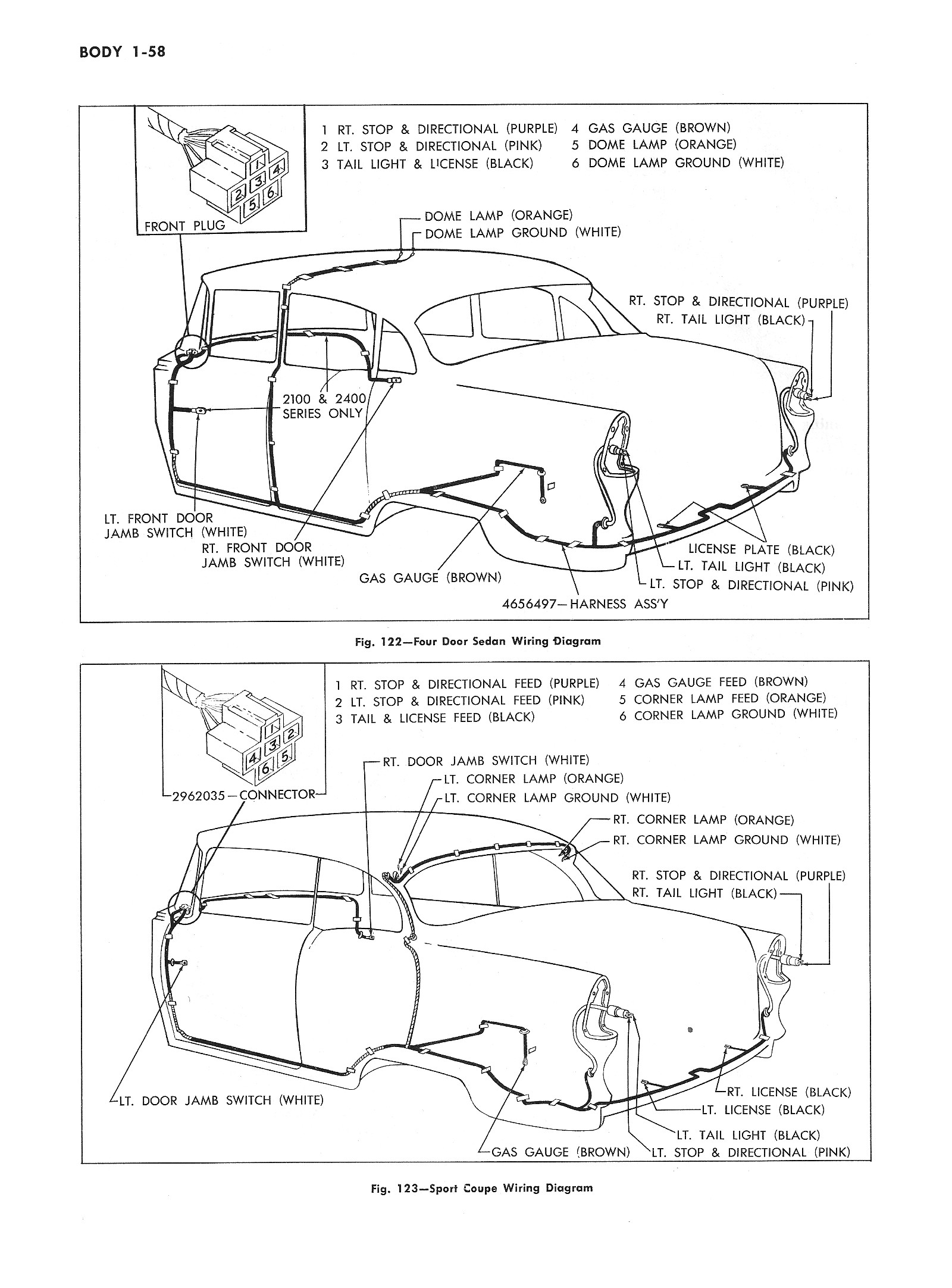 hight resolution of  1955 passenger car body wiring 2