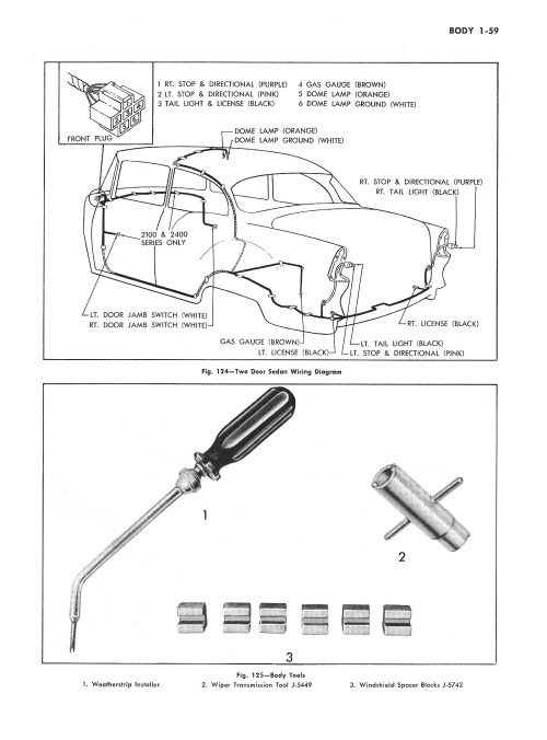small resolution of  1955 passenger car body wiring 3