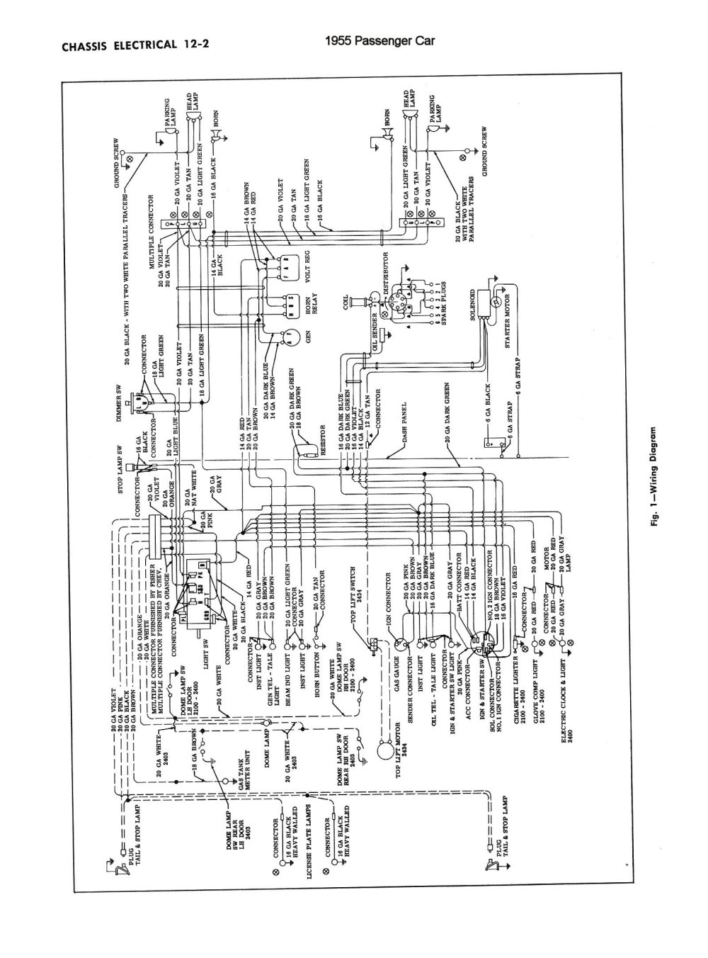 medium resolution of chevy wiring diagrams1955 car chassis electrical 1955 car chassis electrical