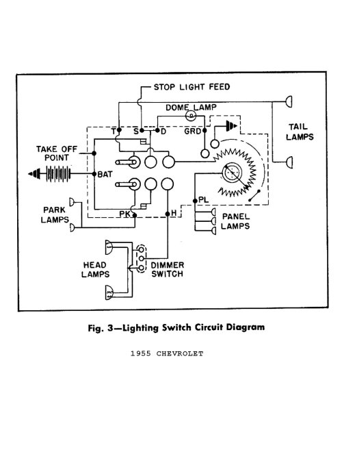 small resolution of 1955 lighting switch circuit