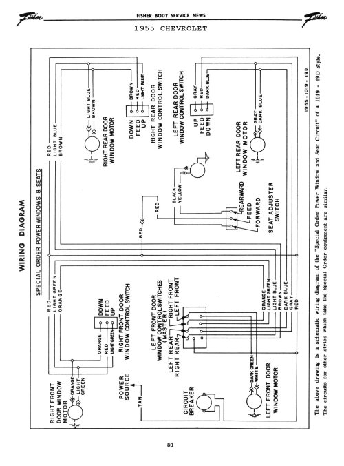 small resolution of 1955 power windows seats 2 chevy wiring diagrams
