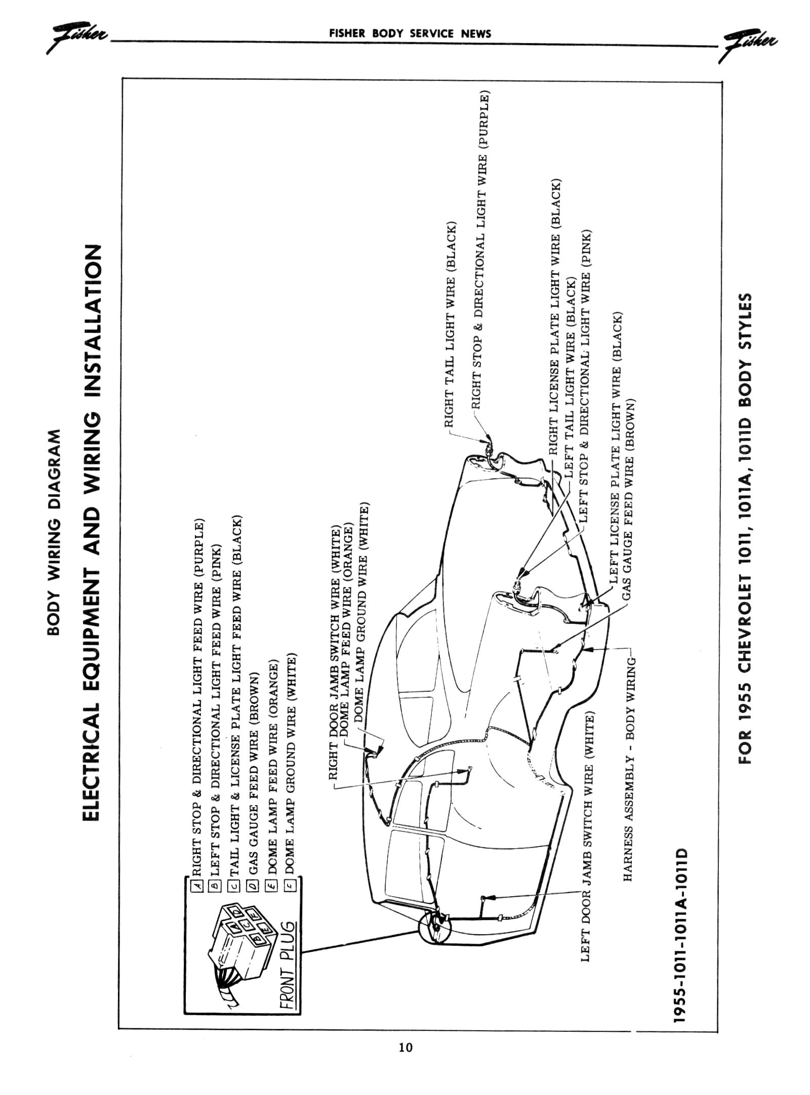 chevrolet chevy 1955 car wiring electrical diagram manual