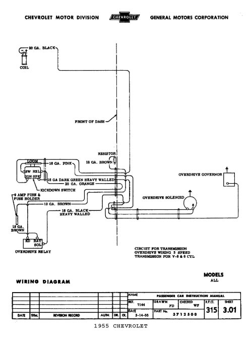 small resolution of  1955 5 speed overdrive circuit 1955 body wiring diagram