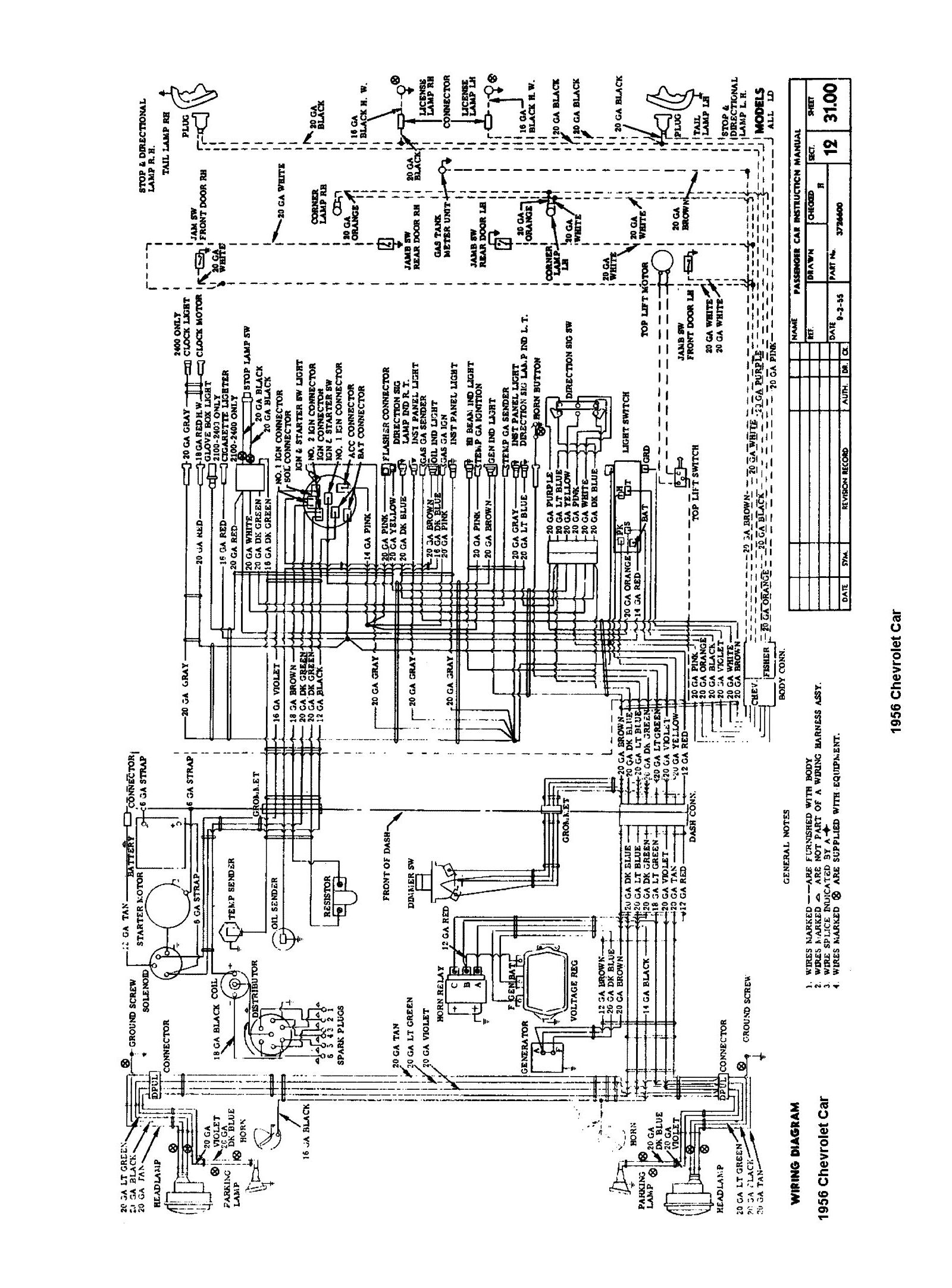 [WRG-4274] 12 Volt Wiring Diagram For 1956 Chevy