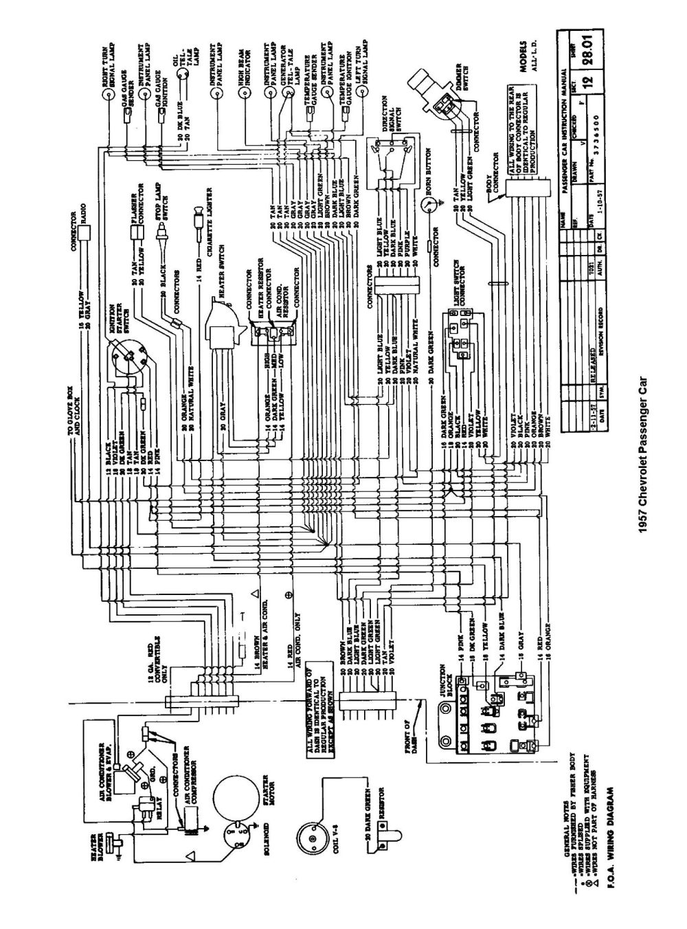 medium resolution of 1957 passenger car wiring 2 chevy wiring diagrams