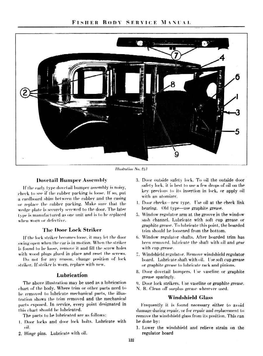 1931 Fisher Body Service Manual