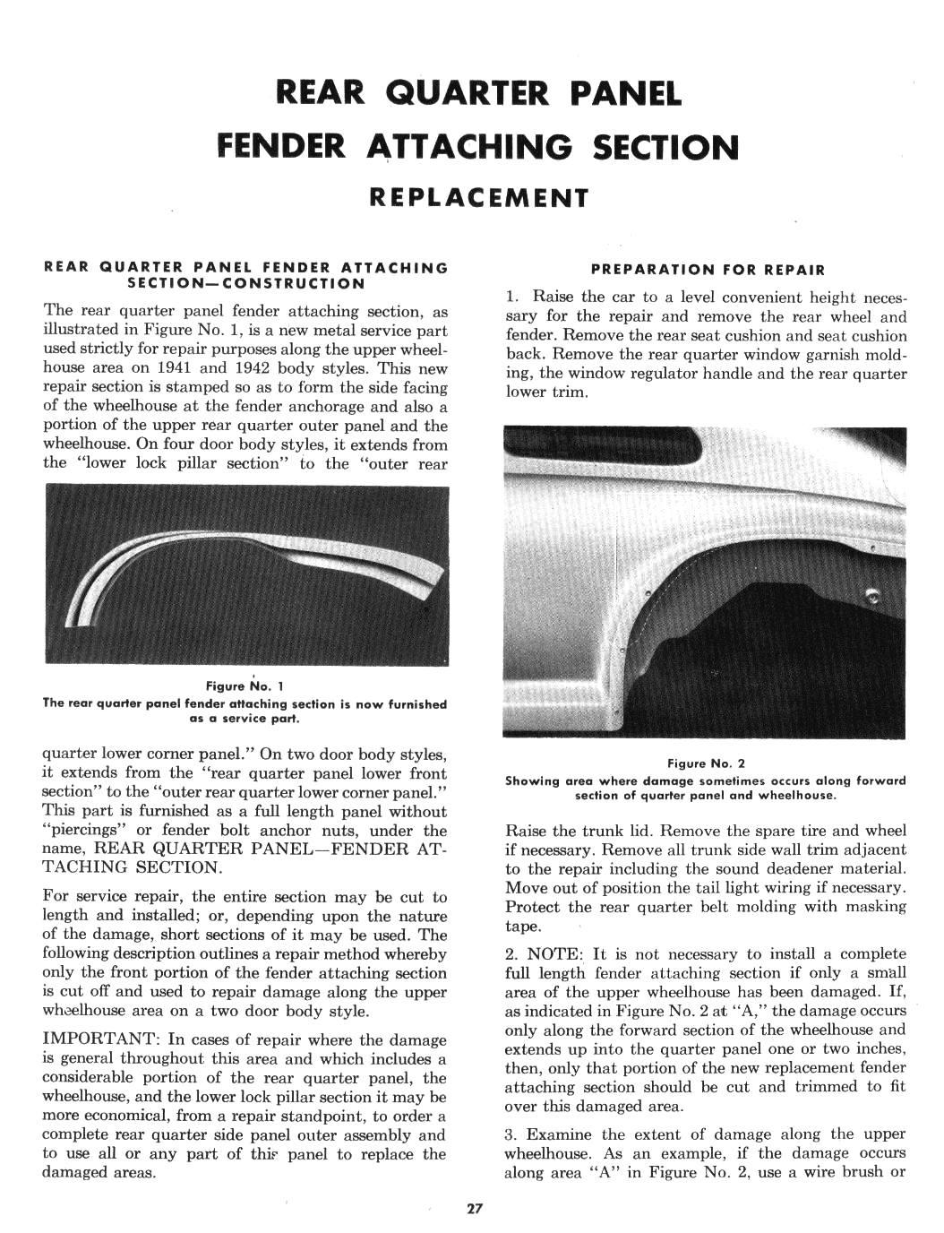 1941-42 Fisher Sheet Metal Service Manual