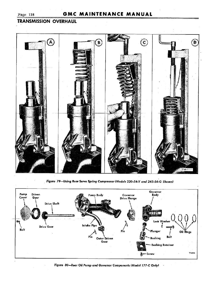 1954 GMC Truck Hydra-Matic Transmission Maintenance Manual