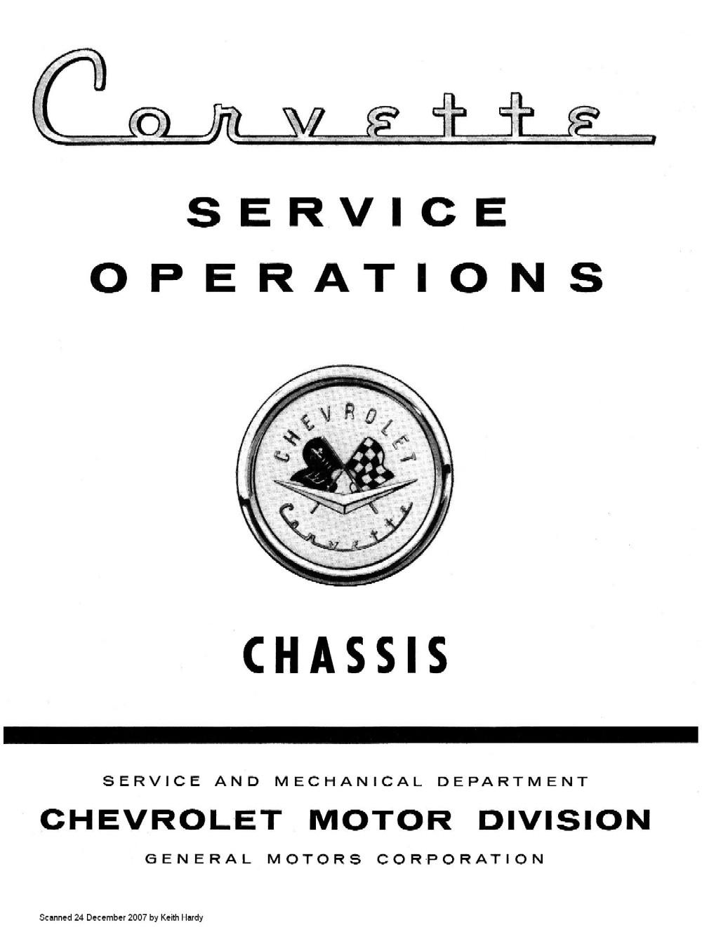1957 Corvette Service Operations