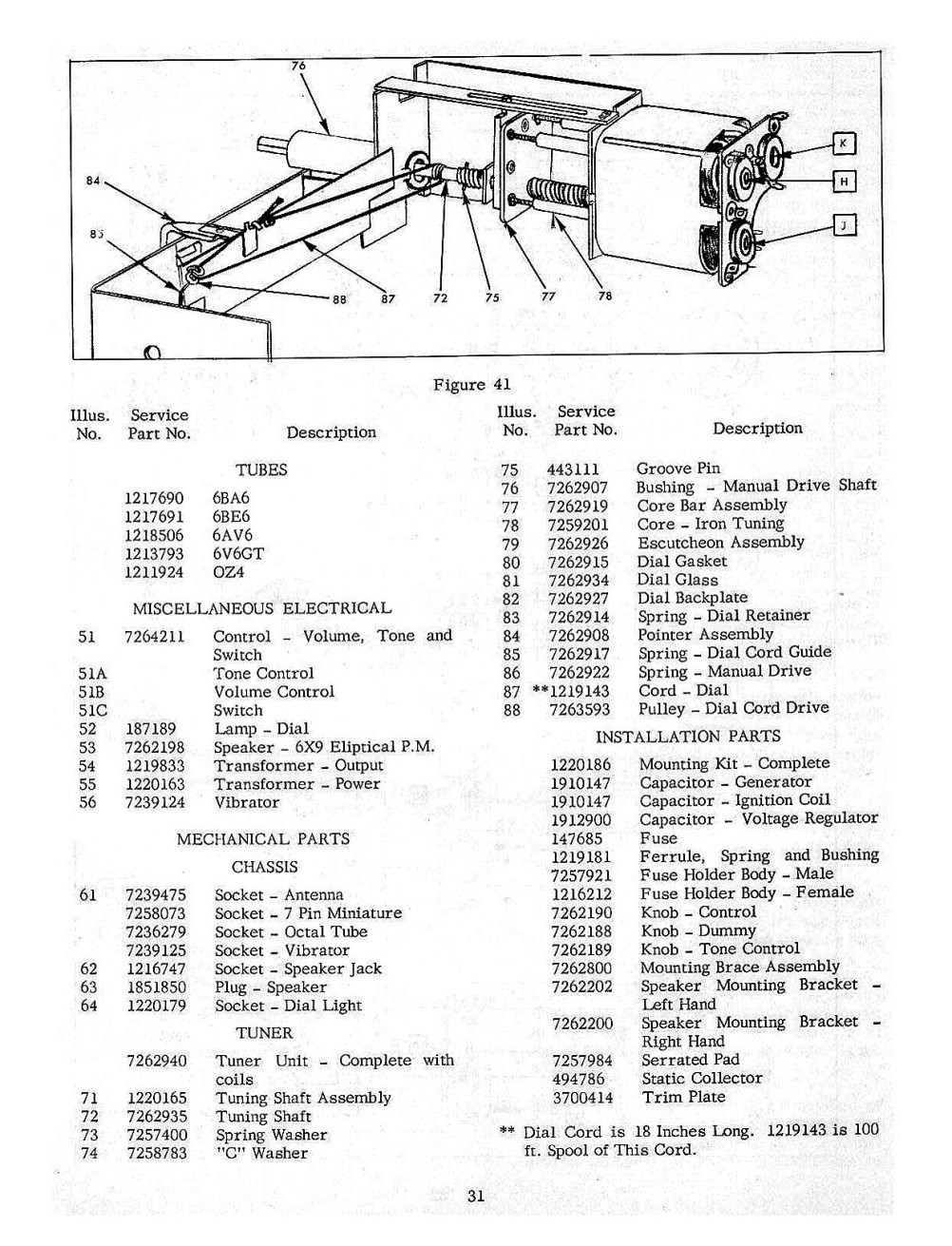 1954 Chevrolet Radio and Autronic Eye