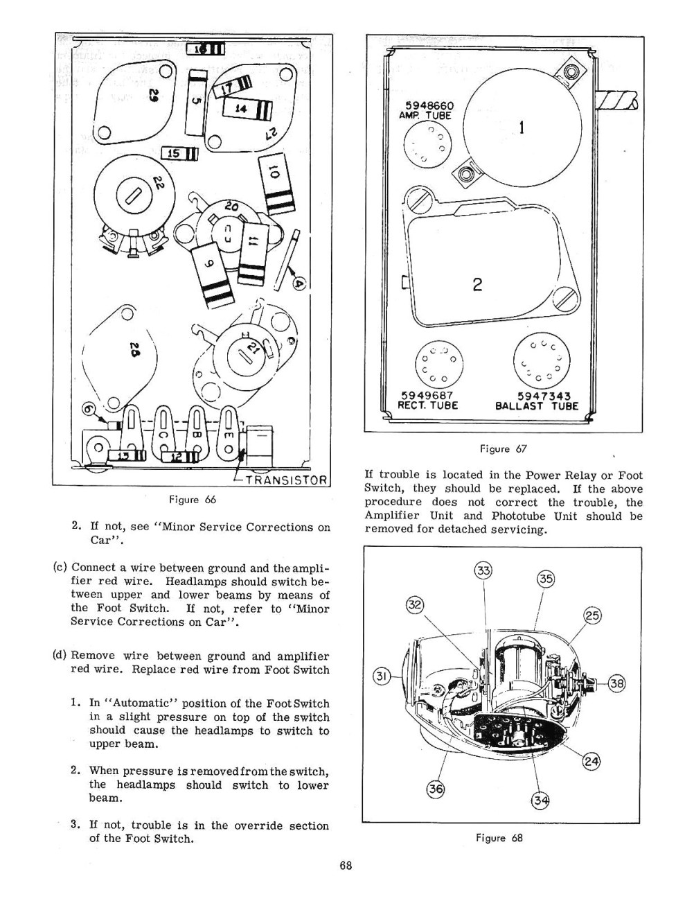 1958 Chevrolet RADIO and AUTRONIC EYE Service and Shop Manual