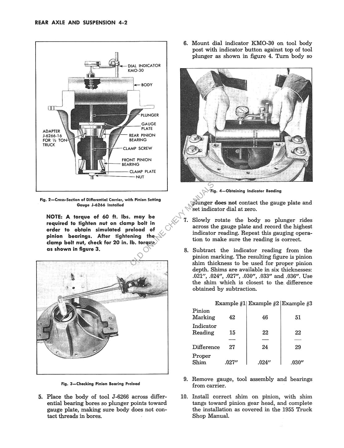 1956 Supplement to the 1955 Chevrolet Truck Shop Manual