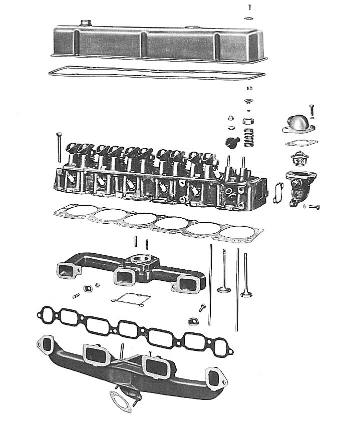 Chevy 250 Inline 6 Diagram : chevy, inline, diagram, Engine