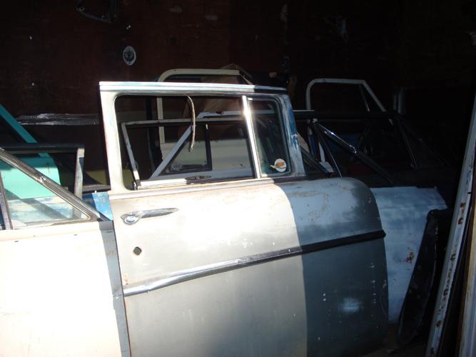 vintage chevy car doors