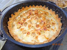 DeeAnn Johnson's Dutch oven apple pie.