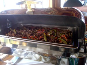 Ropa Vieja, a Caribbean shredded beef dish served at Snowbasin.
