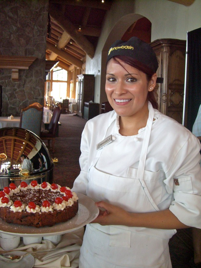 Marisela Sanchez, former Dutch oven world champion, is now Snowbasin's pastry chef.
